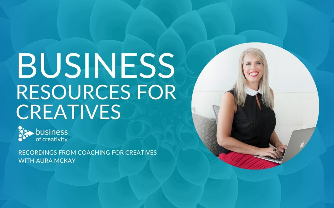 Business and mindset resources and training videos for creative freelancers and solopreneurs with Aura McKay